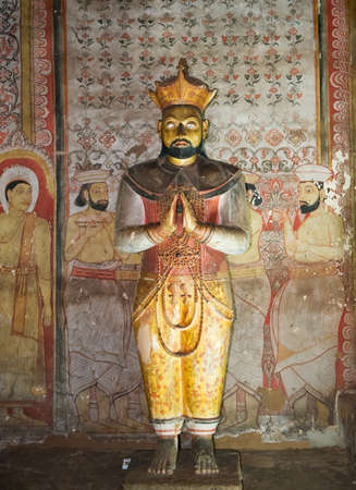 The Statue Of Buddhahood. Underground caves. Of the fifth century of our era. Country Of Sri Lanka Editorial