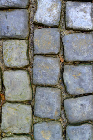 cobbled road. High detailed photo fragment road Stock Photo
