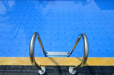The details of the swimming pool in the open air Stock Photo