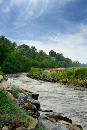 Tropical river . The Country Sri Lanka