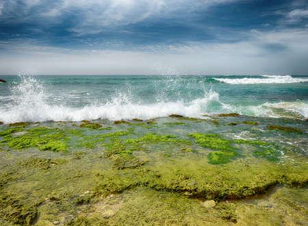 ocean coast. Beautiful shores of the Indian ocean Stock Photo