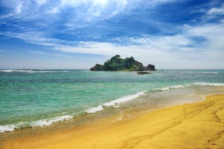 island in ocean.  Beautiful shores of the Indian ocean