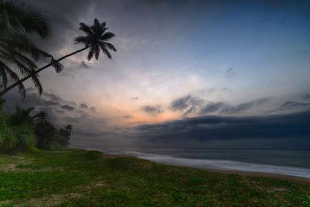 evening sky over the ocean. The coast of the Indian ocean. The Island Of Sri Lanka