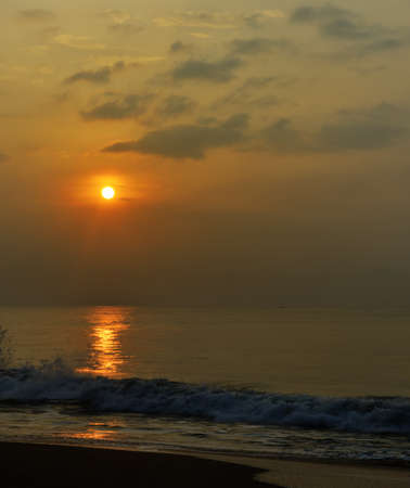 Sunrise over the ocean. The coast of the Indian ocean. The Island Of Sri Lanka Stock Photo - 17719062
