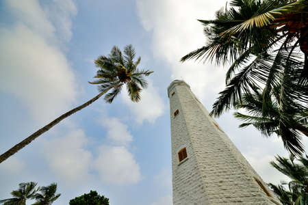 lighthouse. Lighthouse on the tropical island of Sri Lanka photo