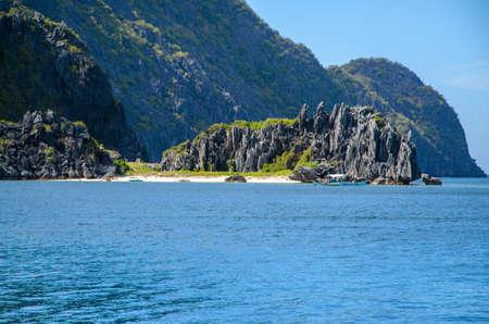 nido: El Nido, Palawan, Philippines - rocks in front of Matinloc island.