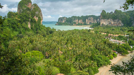 railay: View on Railay beach from a height, Krabi, Thailand.