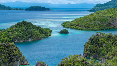 Painemo Island, Blue Lagoon, Raja Ampat, West Papua Indonesia