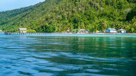 Local Village on Monsuar Island. Raja Ampat, Indonesia. West Papua