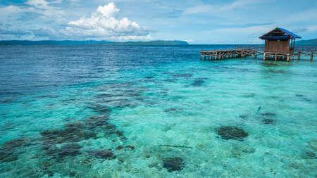Pier on Arborek Island - Raja Ampat, West Papua, Indonesia.