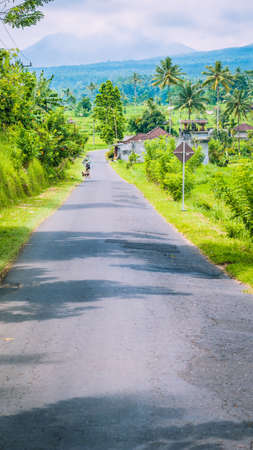 Rural road in Sediment District, Bali Island, Indonesia