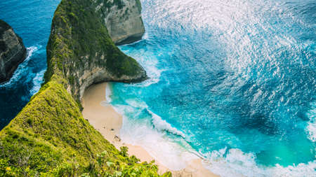 Manta Bay or Kelingking Beach on Nusa Penida Island, Bali, Indonesia