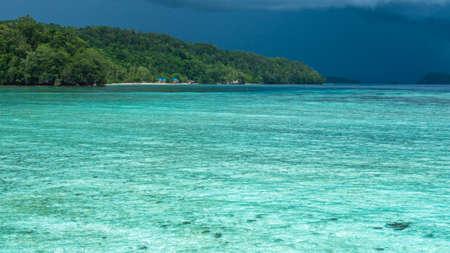 Beautiful  Lagoon shortly before Thunderstorm, Gam Island, West Papuan, Raja Ampat, Indonesia