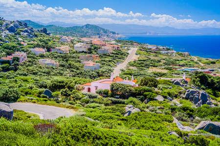 Stony walk path in Costa Paradiso, Sardinia, Italy Stock Photo