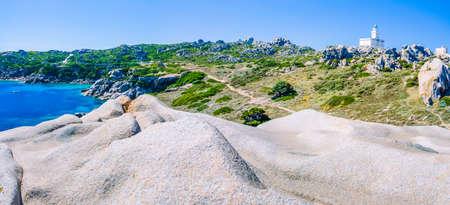 Capo Testa. Amazing place with bizarre granite rock formations, Sardinia Island, Italy