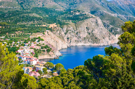cefallonia: Assos Village at Kefalonia island in Greece