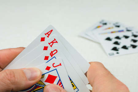 goodluck: Playing cards in poker. One card more - will be an Royal Flush