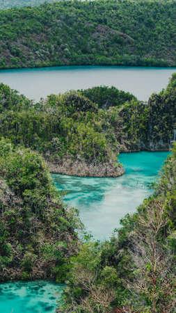 Painemo Island, Blue Lagoon, Raja Ampat, West Papua, Indonesia Stock Photo