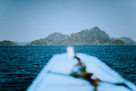 Boat trip to big lagoon at Miniloc Island, El Nido, Palawan, Philippines