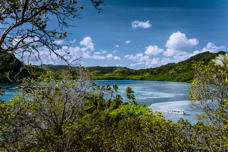 Amazing natural wonder exotic tropical Vigan Snake Island. El Nido Marine Reserve Park, Philippines