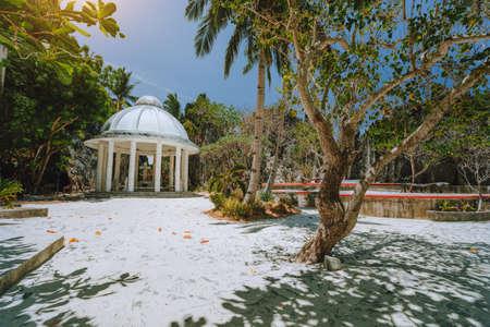 Matinloc Shrine touristic spot on island hopping tour C. El Nido, Palawan, Philippines Archivio Fotografico