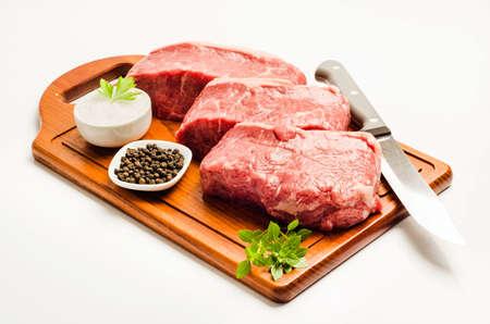 Steak Chorizo, Meat Sliced Stock fotó