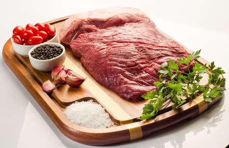 flank: Flank steak, tomatoes, pepper, garlic and salt