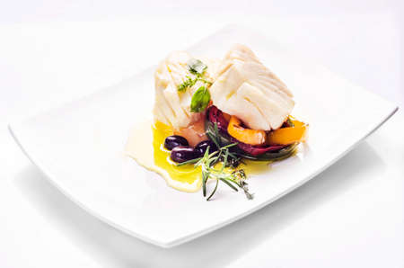 baked cod recipe with pepper, onions and olive oil