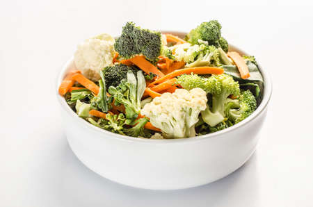 brocoli: salad with broccoli, carrots, cauliflower