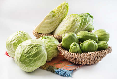 chayote: chayote and cabbage