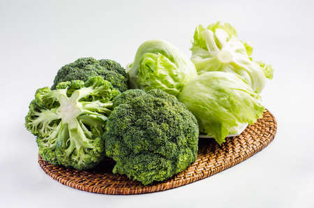 brocoli: broccoli and lettuce