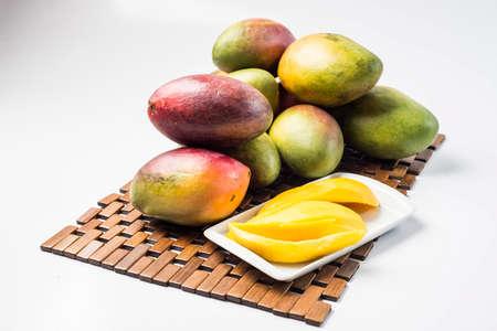 palmer: Sliced ??mango type Palmer Stock Photo