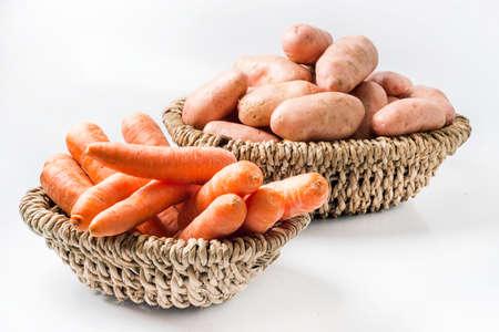 asterix: Carrot and Potato Stock Photo