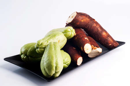 chayote: chayote and cassava
