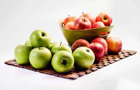 granny smith: Green and Red Apple, Granny Smith Stock Photo