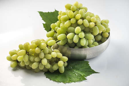 Bunch of Thompson Grapes Stock Photo