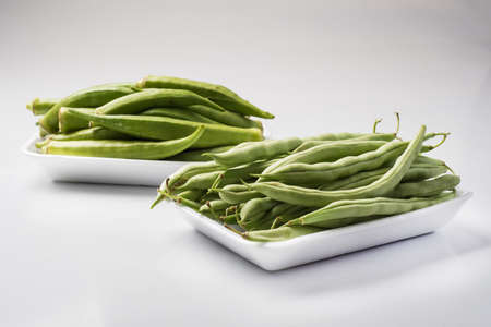 haricot vert: Okra and haricot vert, String beans