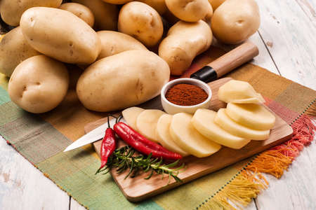 potatoes with pepper Banco de Imagens