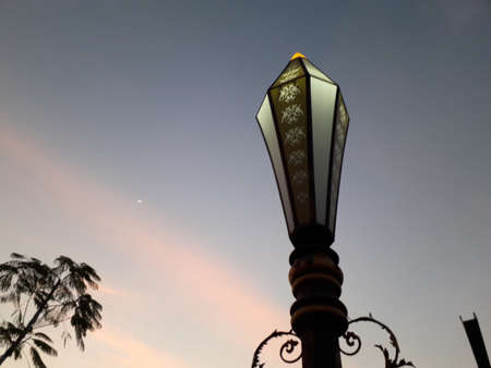 lamp ornaments with a blue evening sky background 写真素材