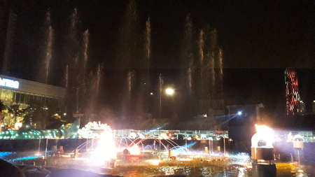 the amazing dancing fountain with bright and beautiful colors