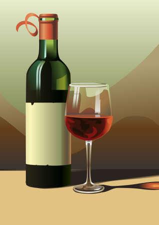 sophistication: wine vector