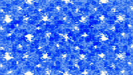 Abstract background with blue and white blurred spots. Mesh and transparent 3d cubes EPS10