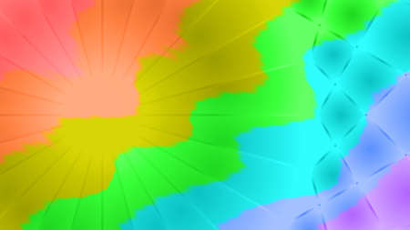Blurred abstract rainbow background with texture of wavy lines with patterns and rays EPS10
