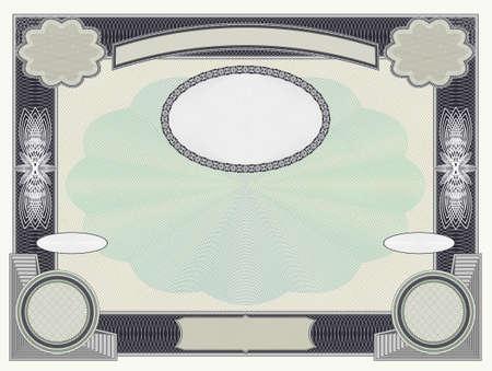 Blank sample security stock with guilloche patterns EPS10 Vektorgrafik