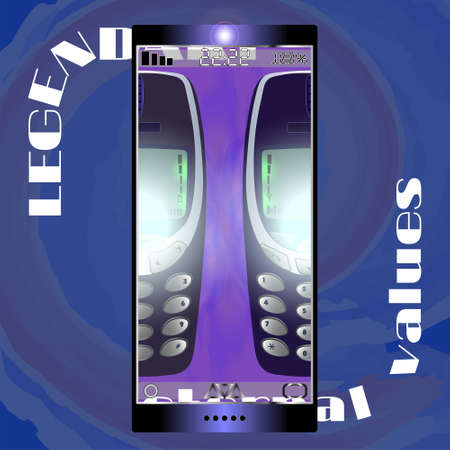 Legendary push button retro phones Two kinds of models EPS10
