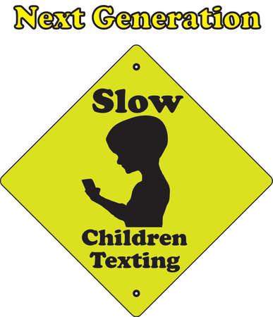 texting: Next Generation-Slow children texting