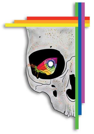 creep: Butterfly in skull eye
