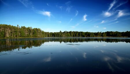 photo of a mountain lake in Maine
