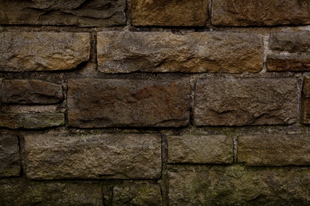 aged stone wall background with red spots and lines
