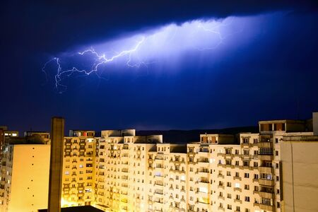 Urban lightning photo